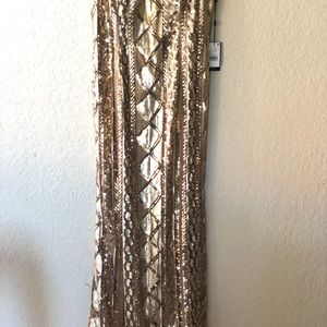 Adrianna Papell Dresses - New Adrianna Papell strapless Sequin cable gown